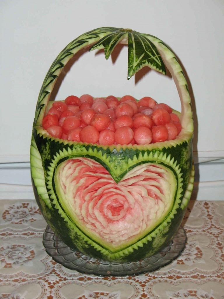 foto03 Карвинг из фруктов: виды поделок и пошаговая инструкция