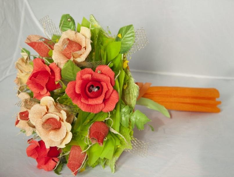 Вип букеты из живых цветов и конфет своими руками — img 8