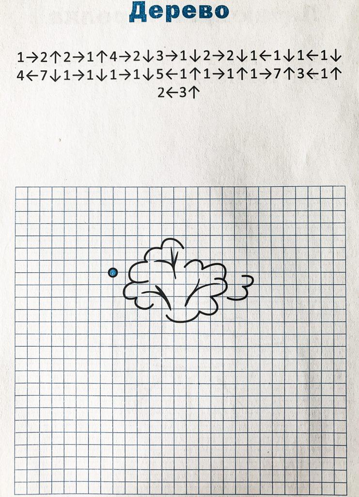 Простые картинки по клеточкам