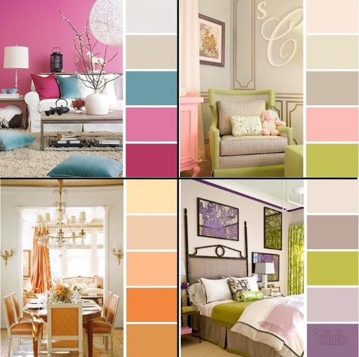 аналогичные цвета в спальне