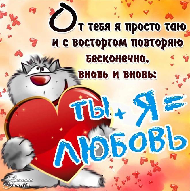 Картинка кот с сердцем